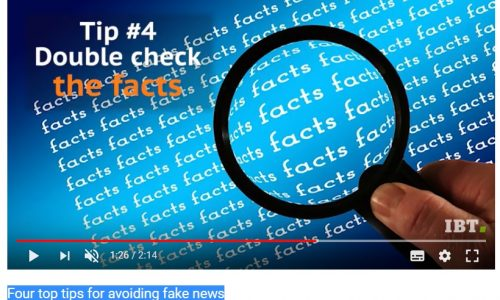 "STRATEGIE: Four top tips for avoiding #fakenews secondo ""International Business Times UK"" @ibtimesuk #video"
