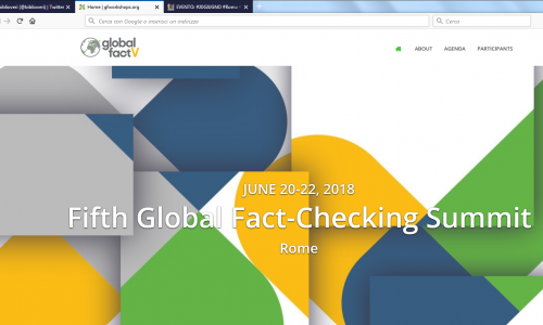 EVENTO: #Roma #globalfactV quinto global fact checking summit 2018: #20GIUGNO #21GIUGNO #22GIUGNO #biblioverifica