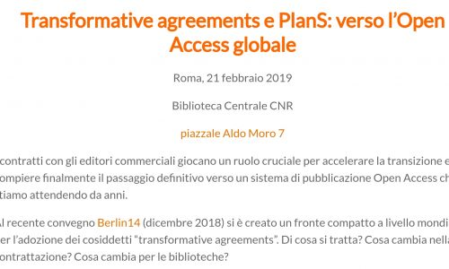 EVENTI #streaming #21febbraio #cnr #planS Transformative agreements e PlanS: verso #OpenAccess globale #crowdsearcher