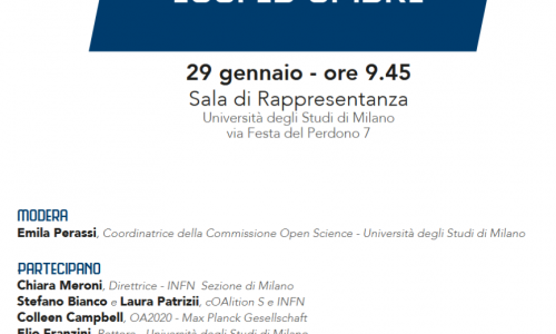 EVENTI: #OpenAccess: luci e ombre di #PlanS video #29gennaio 2019 @lastatale #openScience #openData
