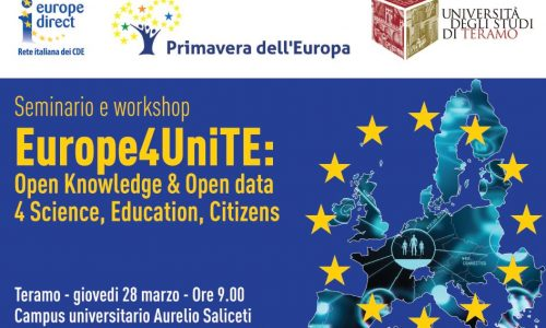 EVENTI: @unite EUROPE4UNITE: SEMINARIO E WORKSHOP OPEN KNOWLEDGE & #OPENDATA 4 SCIENCE, EDUCATION, CITIZENS